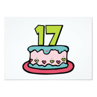 17 Year Old Birthday Cake Card