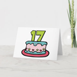 17 Year Old Cake Birthday Cards