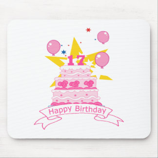 17 Year Old Birthday Cake Mouse Pad