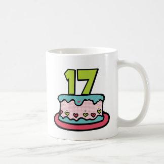 17 Year Old Birthday Cake Classic White Coffee Mug