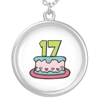 17 Year Old Birthday Cake Custom Necklace