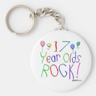 17 Year Olds Rock ! Basic Round Button Keychain