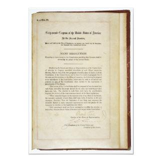 """17ma constitución de los E.E.U.U. de la enmienda Invitación 5"""" X 7"""""""