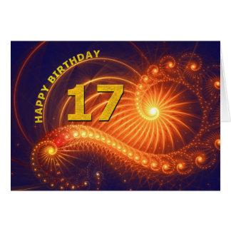 17ma tarjeta de cumpleaños