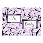 17mas tarjetas florales púrpuras de la invitación