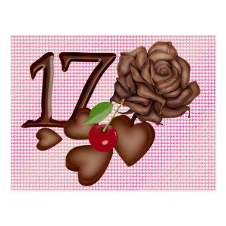 17mo Corazones del chocolate del cumpleaños y subi
