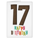 17mo Diseño de tarjeta del feliz cumpleaños 3