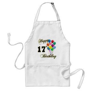 17mo diseño feliz del cumpleaños con los globos delantales