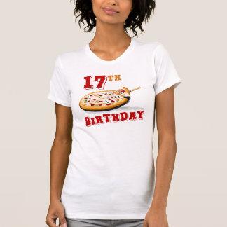 17mo Fiesta de la pizza del cumpleaños Camisetas