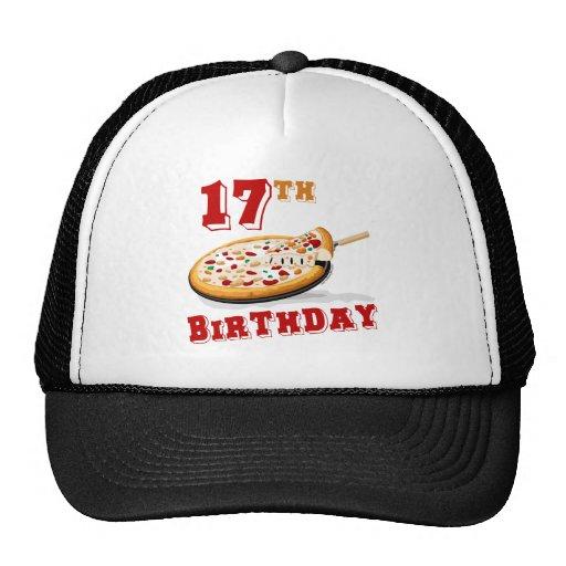 17mo Fiesta de la pizza del cumpleaños Gorras