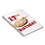 17mo Fiesta de la pizza del cumpleaños Libreta
