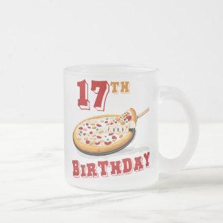 17mo Fiesta de la pizza del cumpleaños Tazas De Café
