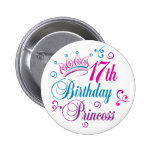17mo Princesa del cumpleaños Pins