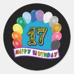17mo Regalos de cumpleaños con diseño clasificado Etiquetas Redondas