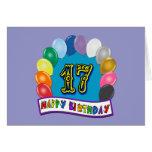 17mo Regalos de cumpleaños con diseño clasificado  Tarjeton