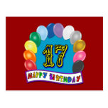 17mo Regalos de cumpleaños con diseño clasificado  Postal