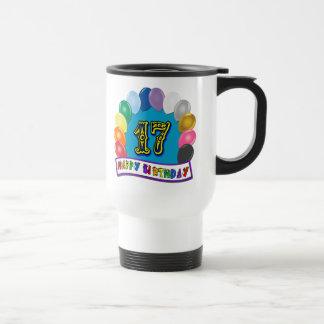17mo Regalos de cumpleaños con diseño clasificado  Taza De Café