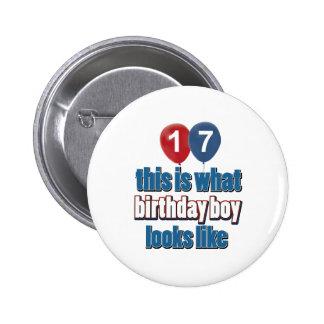 17mos diseños del cumpleaños del año pin