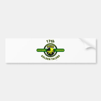 "17TH AIRBORNE DIVISION ""THUNDER FROM HEAVEN"" BUMPER STICKER"