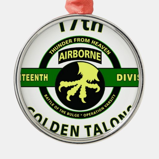 """17TH AIRBORNE DIVISION """"THUNDER FROM HEAVEN"""" ORNAMENT"""