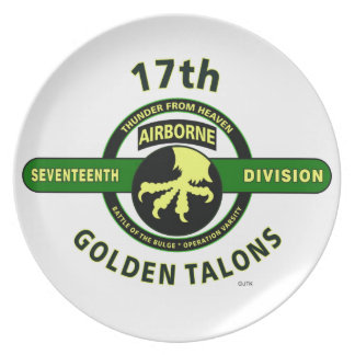 """17TH AIRBORNE DIVISION """"THUNDER FROM HEAVEN"""" PLATE"""
