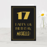"[ Thumbnail: 17th Birthday ~ Art Deco Inspired Look ""17"" & Name Card ]"