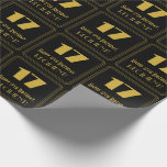 """[ Thumbnail: 17th Birthday – Art Deco Inspired Look """"17"""" & Name Wrapping Paper ]"""