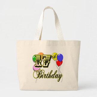 17th Birthday Jumbo Tote Bag