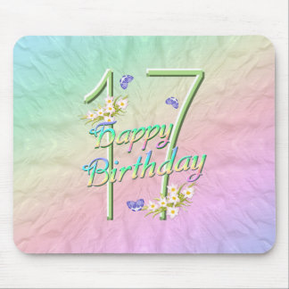 17th Birthday Butterfly Garden Mousepad