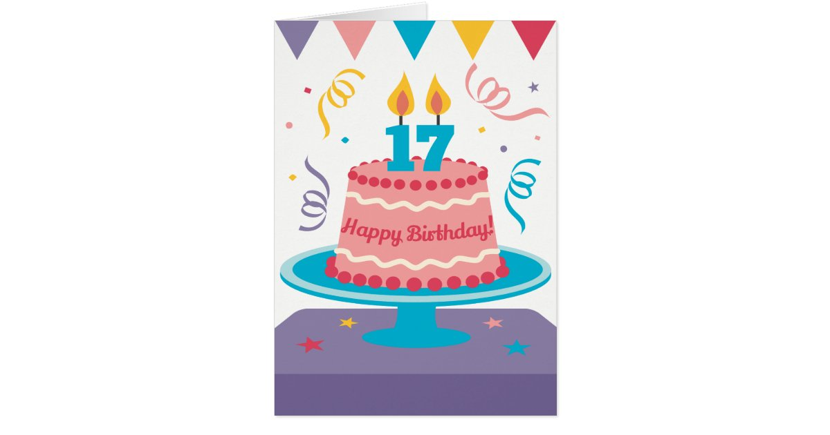 Marvelous 17Th Birthday Cake Zazzle Com Funny Birthday Cards Online Fluifree Goldxyz