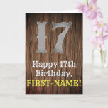 [ Thumbnail: 17th Birthday: Country Western Inspired Look, Name Card ]
