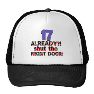 17th birthday designs trucker hat