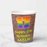 [ Thumbnail: 17th Birthday: Fun Graffiti-Inspired Rainbow 17 ]