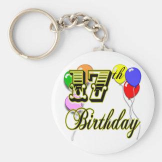17th Birthday Keychain