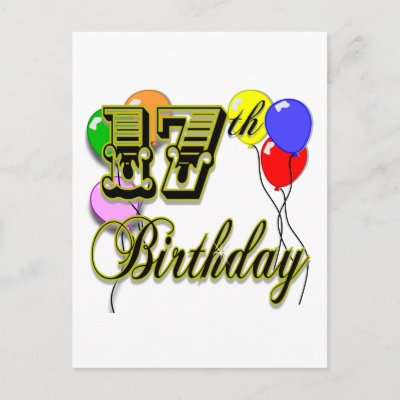 """Great for any 17 year old! Oh - Let us be the first to say, """"Happy Birthday"""""""