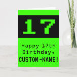"""[ Thumbnail: 17th Birthday: Nerdy / Geeky Style """"17"""" and Name Card ]"""