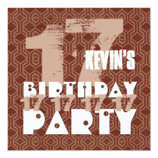 17th Birthday Party 17 Year Old Grunge Z17A Card