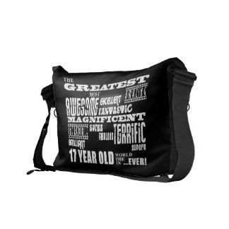 17th Birthday Party Greatest Seventeen Year Old Messenger Bags