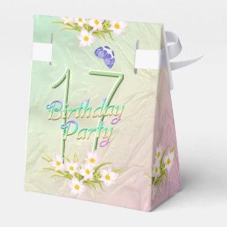 17th Birthday Party Rainbow Butterflies Favor Box