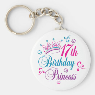 17th Birthday Princess Keychain