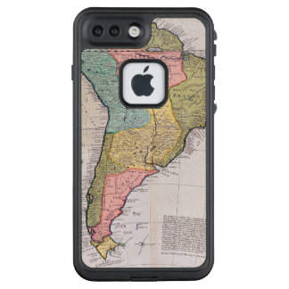 17th Centruy English Antique Map of South America. LifeProof FRĒ iPhone 7 Plus Case
