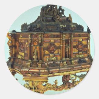 17th century amber casket, Malbork, Poland Sticker