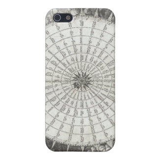 17th Century Anemographic Wind Rose Chart Covers For iPhone 5