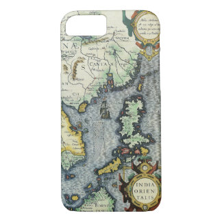 17th Century Antique Asian Map, Mercator / Hondius iPhone 8/7 Case