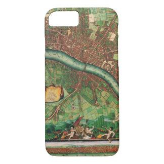 17th Century Antique London, England Street Map iPhone 8/7 Case