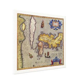 17th Century Antique Map Japan, Mercator / Hondius Canvas Print