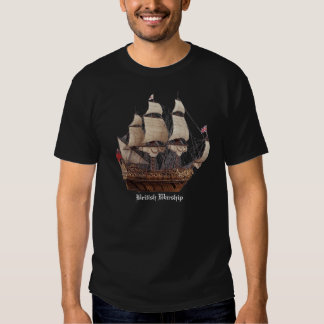 17Th Century British Warship Black T-Shirt