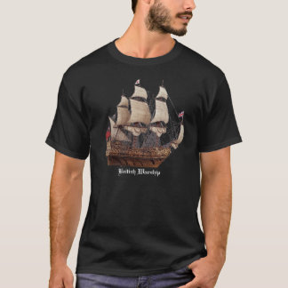 17Th Century British Warship Black T-Shirt