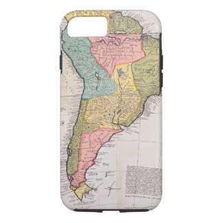 17th Century English Antique Map of South America iPhone 8/7 Case