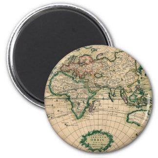 17th Century European Map 2 Inch Round Magnet